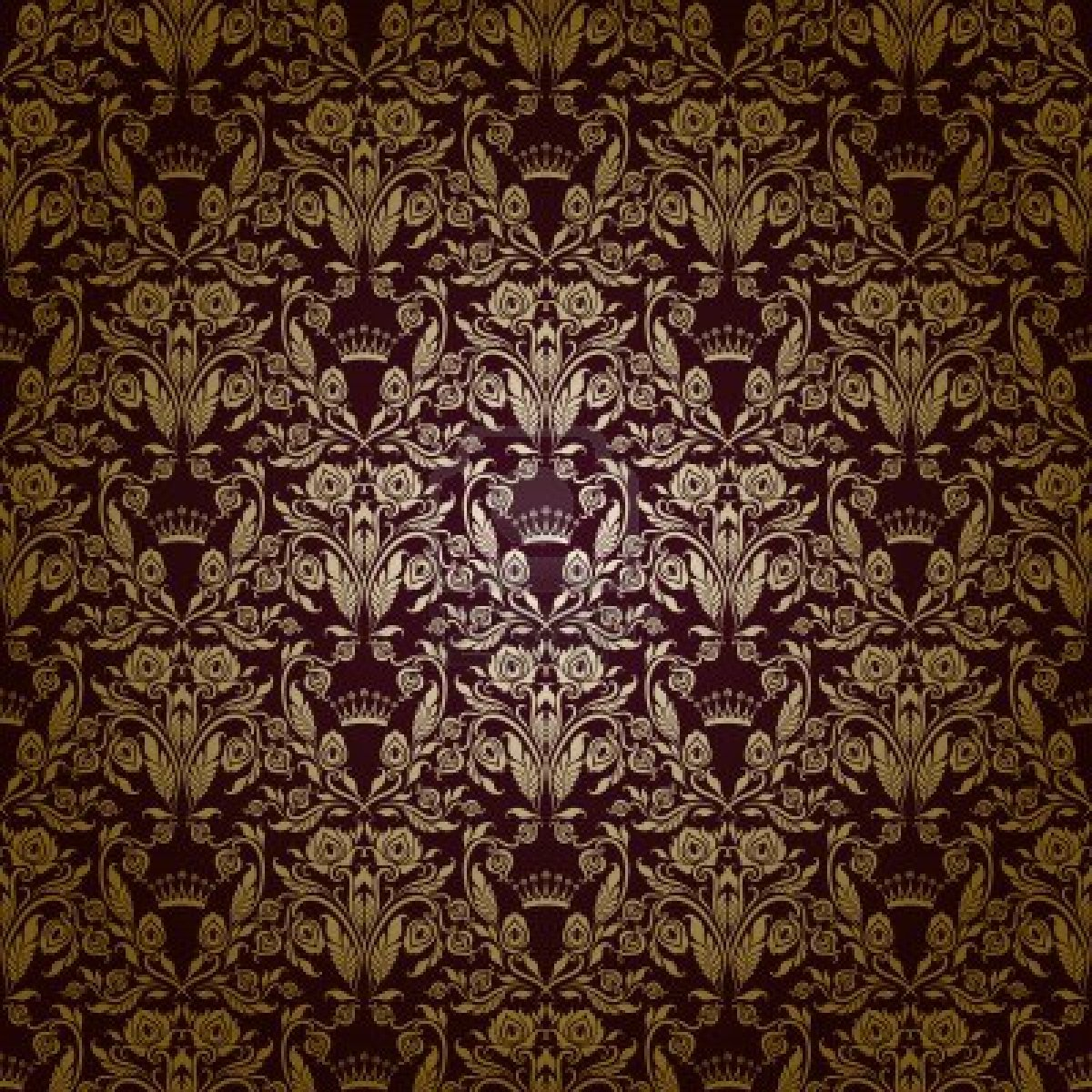 15890007 Damask Seamless Floral Pattern Royal Wallpaper Flowers On A Dark Background