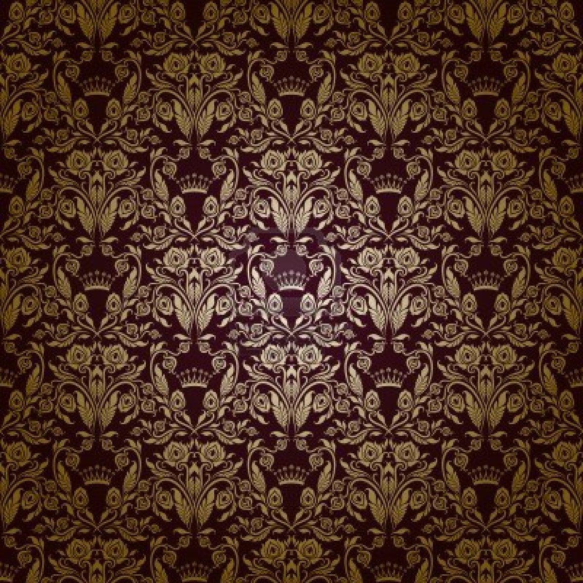 swirling royal pattern wallpaper - photo #12