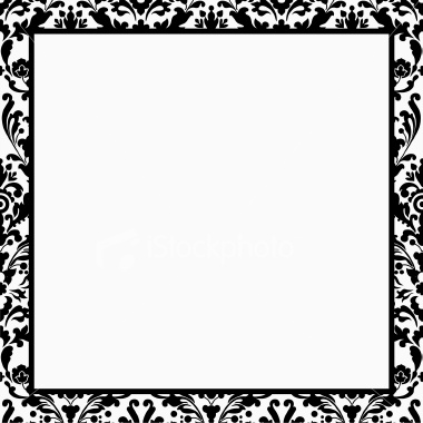 stock-illustration-3731678-black-and-white-damask-border | Digital Dream FX